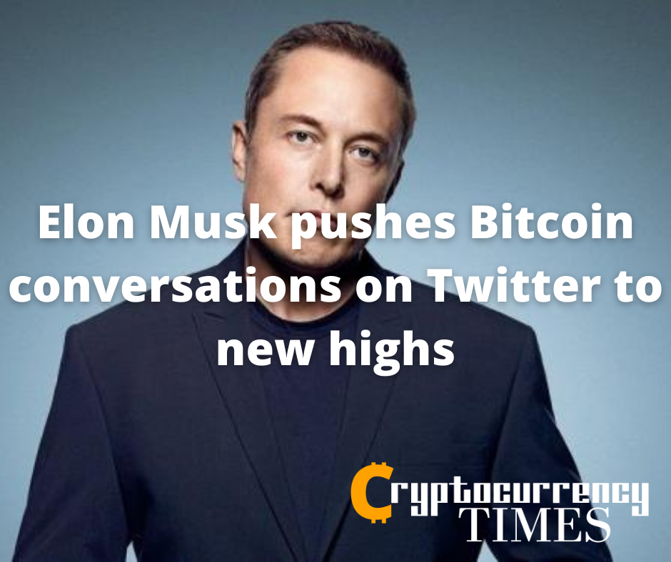 Elon Musk pushes Bitcoin conversations on Twitter to new highs