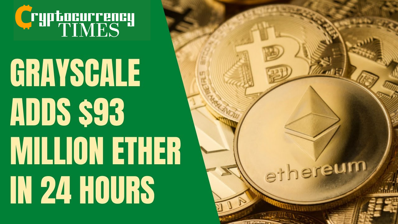 In the last 24 hours, Grayscale's Ethereum Trust has topped up on an extra 52,730 Ethers. The purchase worth around $93 million is the highest daily inflow into Ethereum since the crypto asset manager reopened its doors to new Ethereum investors earlier this year. In the last 30 days, the world's largest crypto asset manager has accumulated 191,645 Ethereum valued at around $339.2 million. As of press time, the firm's Ethereum Trust had more than 3.13 million ETH valued at over $5.5 billion under its management. Data on crypto analytics firm Bybt.com also reveals that despite recent price rallies, Grayscale has continued to aggressively accumulate Ethereum. In the last 7 days, despite Ether's significant price pump, Grayscale added 111,182 Ethereum to its portfolio. It can be recalled that in December, the Grayscale Investment team announced that there was a strong demand for Ethereum offerings. The company revealed that over $202 million flowed into its Ethereum Trust in the third quarter of 2020. Comparatively, more than that amount has flowed into the fund in the last 30 days, a further confirmation that the demand for Ethereum is still rising. As per the price of Ethereum, the digital asset has managed to sustain its momentum. It was exchanging hands at nearly $1,850 as of press time.